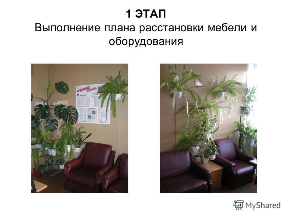 1 ЭТАП Выполнение плана расстановки мебели и оборудования