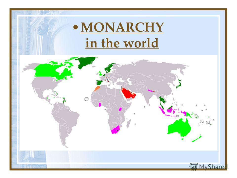 MONARCHY in the world