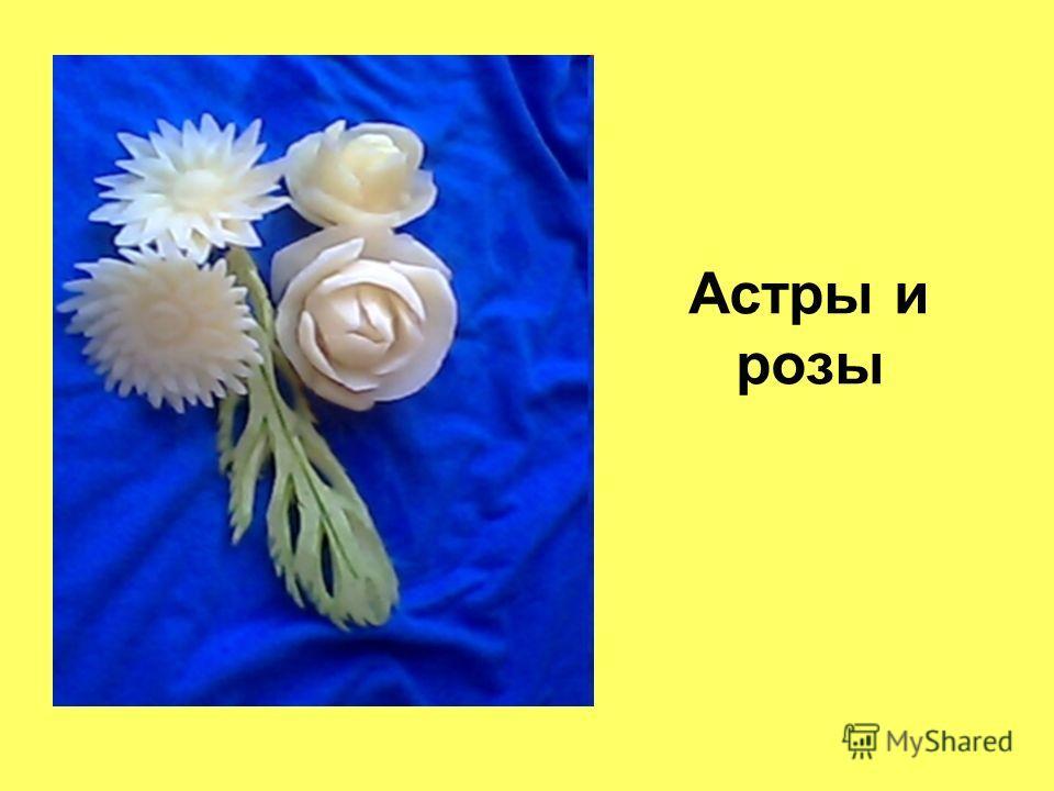 Астры и розы