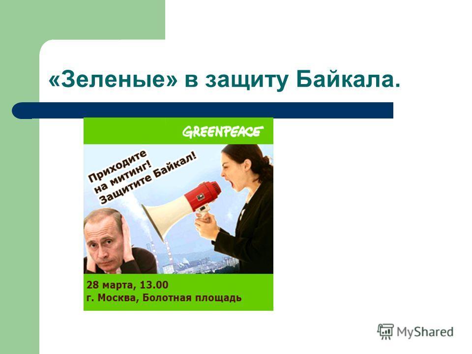 «Зеленые» в защиту Байкала.