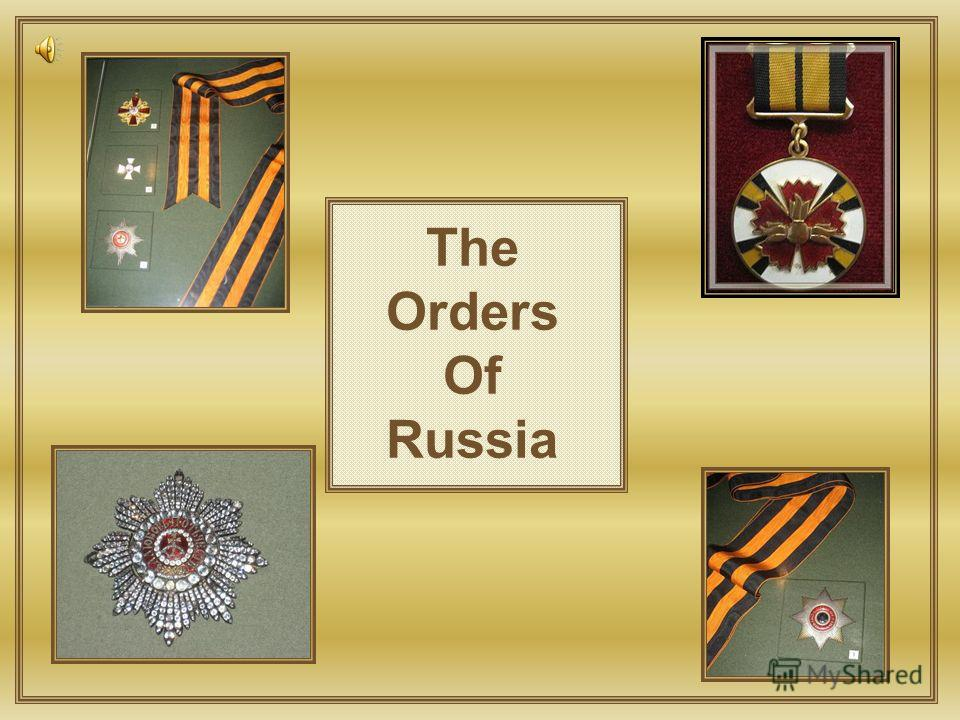 The Orders Of Russia