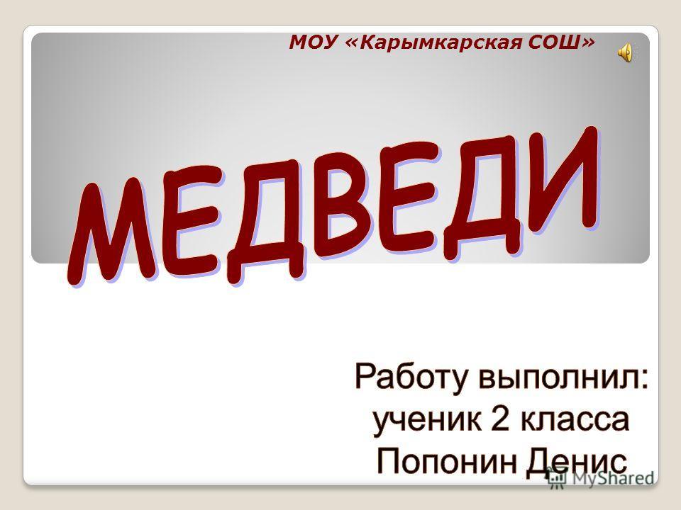 МОУ «Карымкарская СОШ»