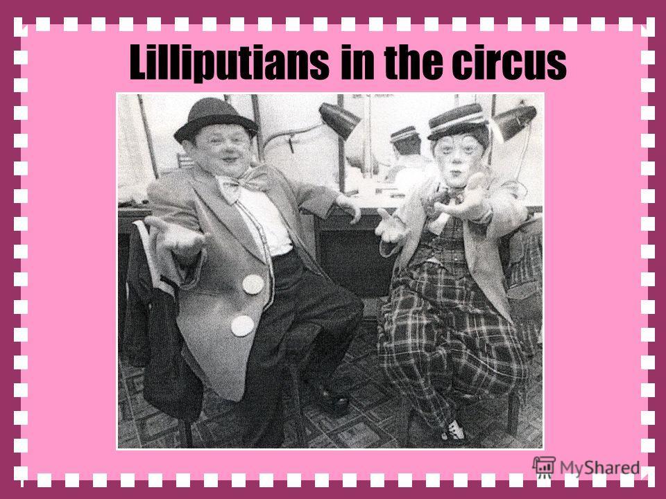Lilliputians in the circus