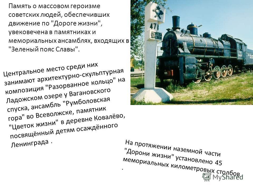 Память о массовом героизме советских людей, обеспечивших движение по