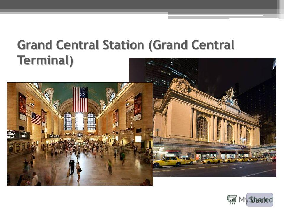 Grand Central Station (Grand Central Terminal) back