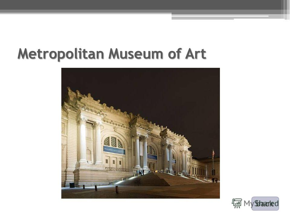 Metropolitan Museum of Art back