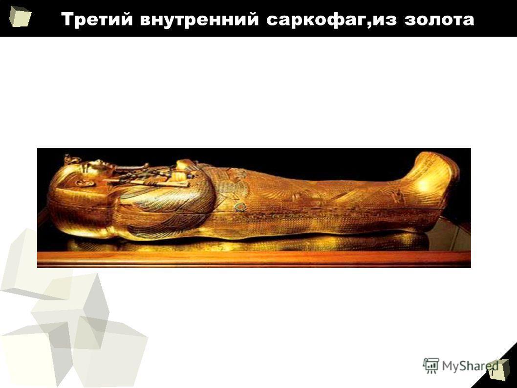 17 Третий внутренний саркофаг,из золота