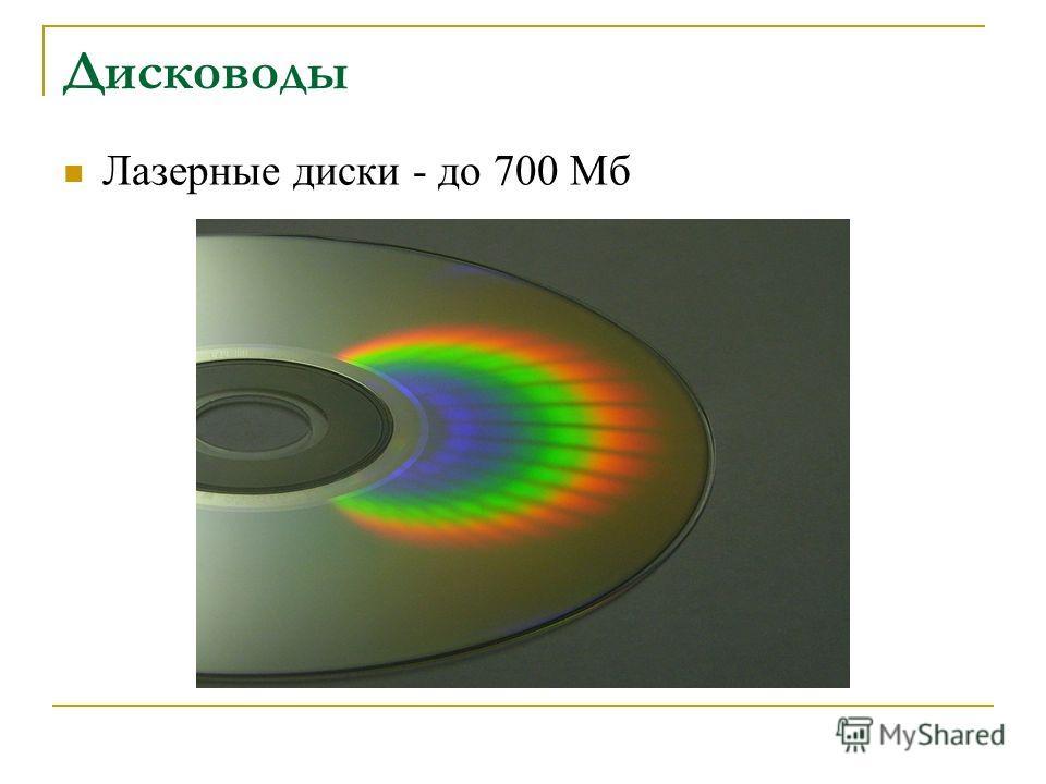 Дисководы Лазерные диски - до 700 Мб