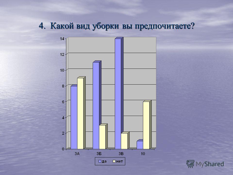 4. Какой вид уборки вы предпочитаете?