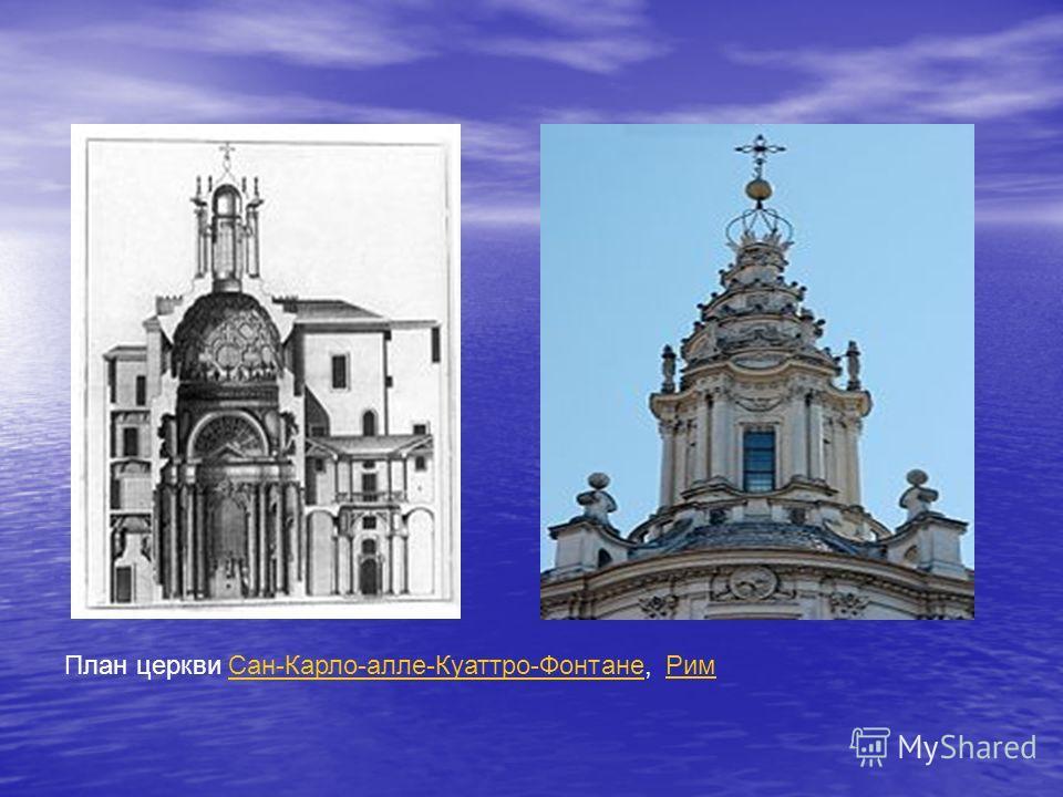 План церкви Сан-Карло-алле-Куаттро-Фонтане, РимСан-Карло-алле-Куаттро-ФонтанеРим