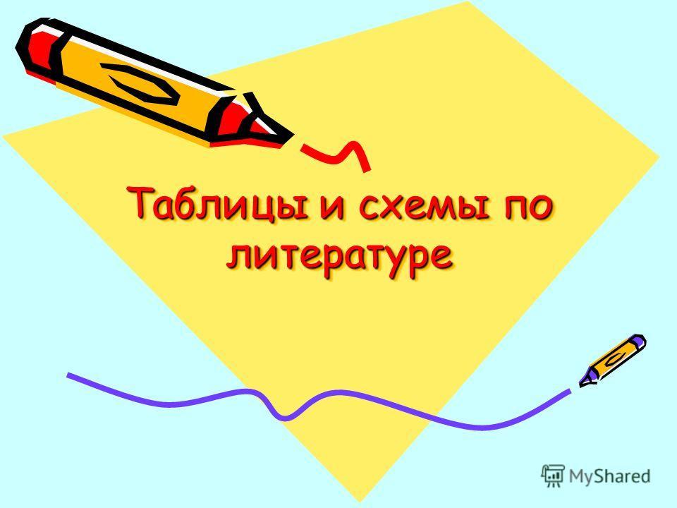 Таблицы и схемы по литературе