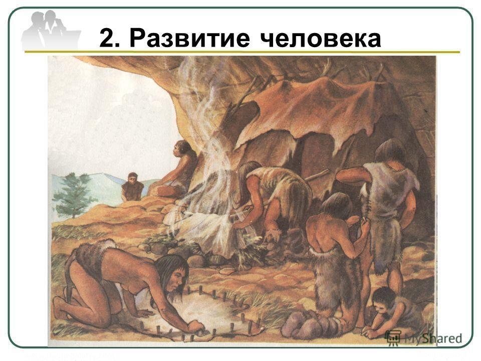 2. Развитие человека Совместными усилиями люди не только приспособились к окружающему миру, изменили, преобразовали, но и изменили, преобразовали, окультурили окультурили его