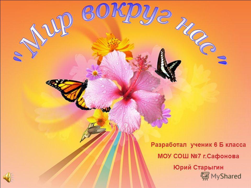 Разработал ученик 6 Б класса МОУ СОШ 7 г.Сафонова Юрий Старыгин