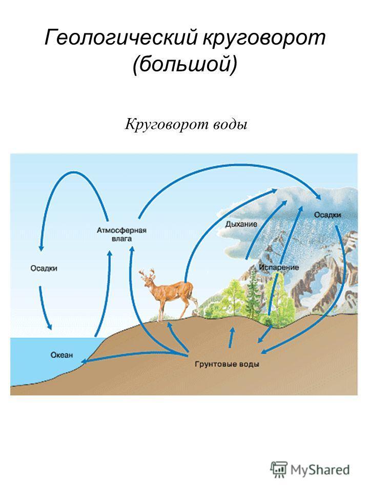 Геологический круговорот (большой) Круговорот воды