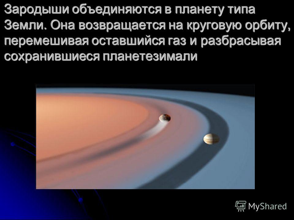Гравитационное взаимодействие зародышей между собой и с гигантской планетой возмущает орбиты
