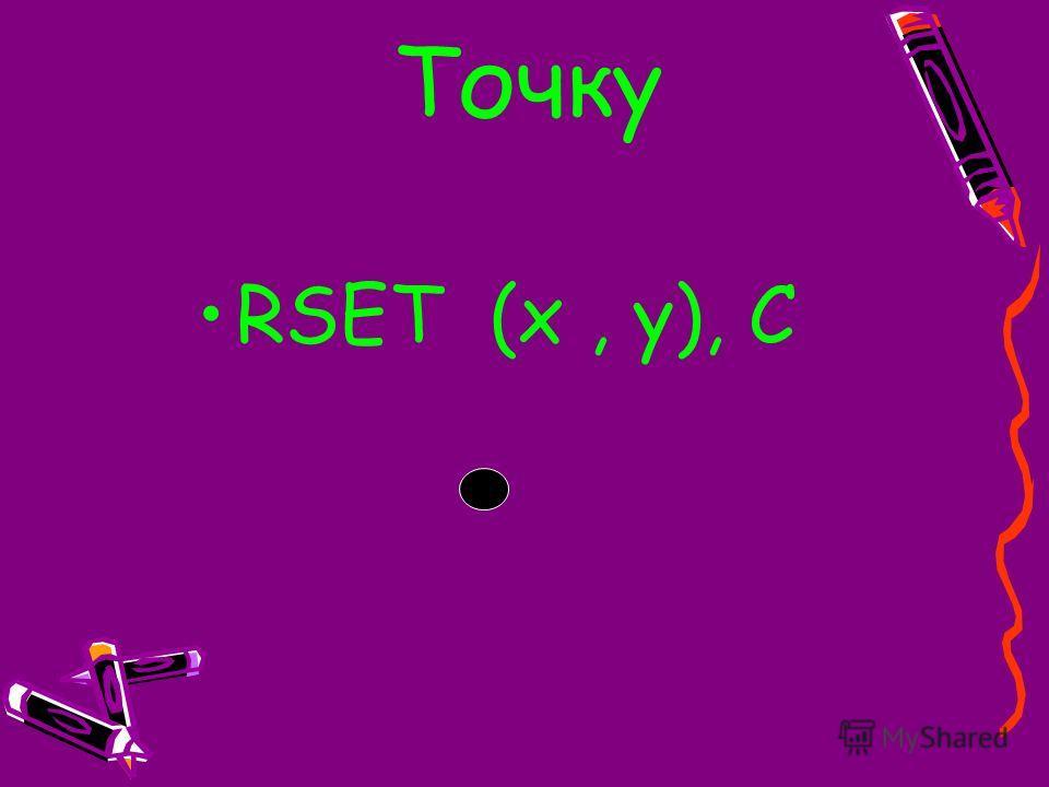 RSET (x, y), C Точку