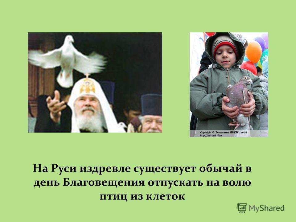 На Руси издревле существует обычай в день Благовещения отпускать на волю птиц из клеток