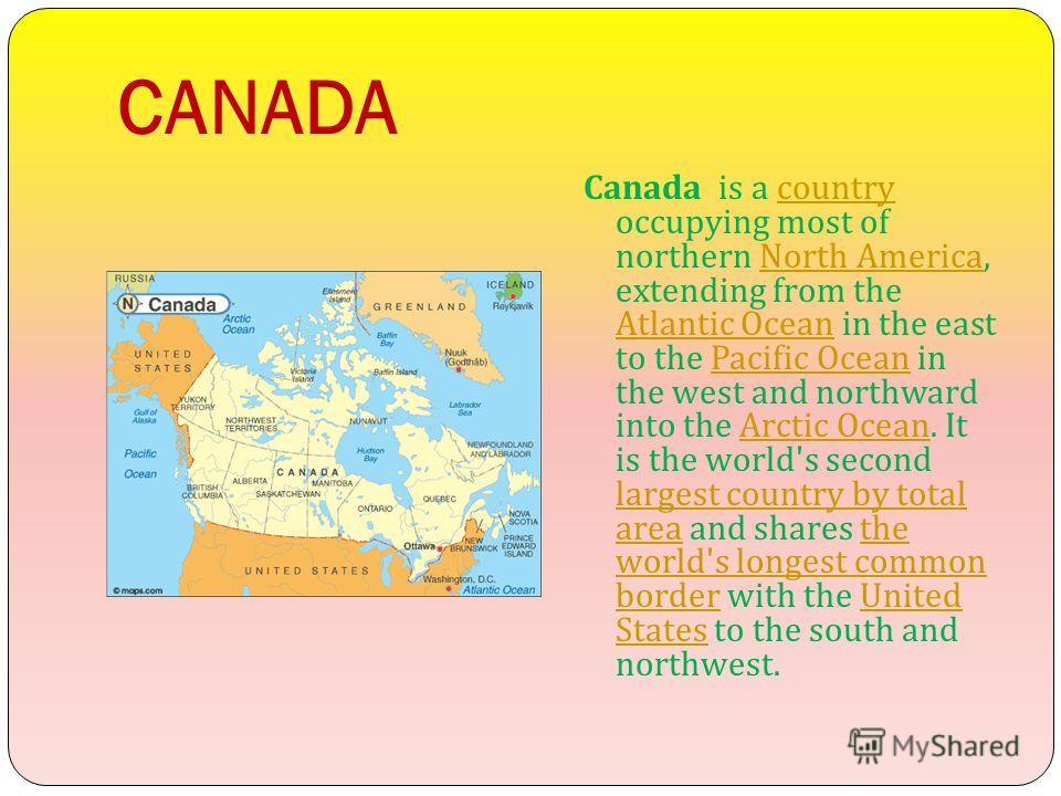 an introduction to canada the second largest country in the world after russia Canada facts: did you know that canada is the second largest country in the world, right after russia.
