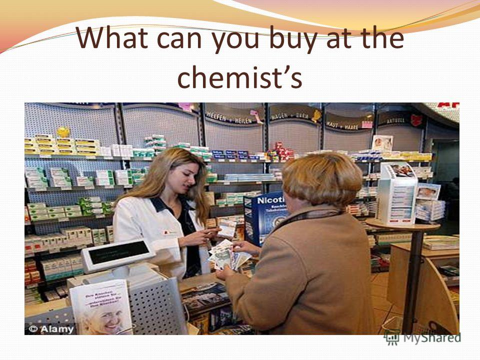What can you buy at the chemists