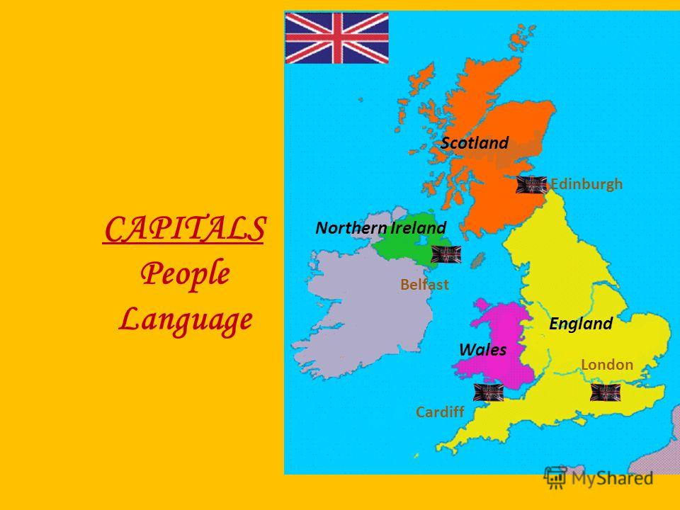 CAPITALS People Language England Scotland Northern Ireland Wales Edinburgh Belfast Cardiff London