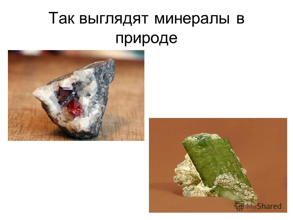 Так выглядят минералы в природе