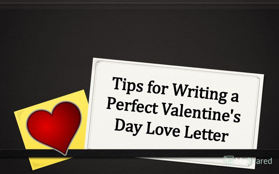 Tips to write a love letter