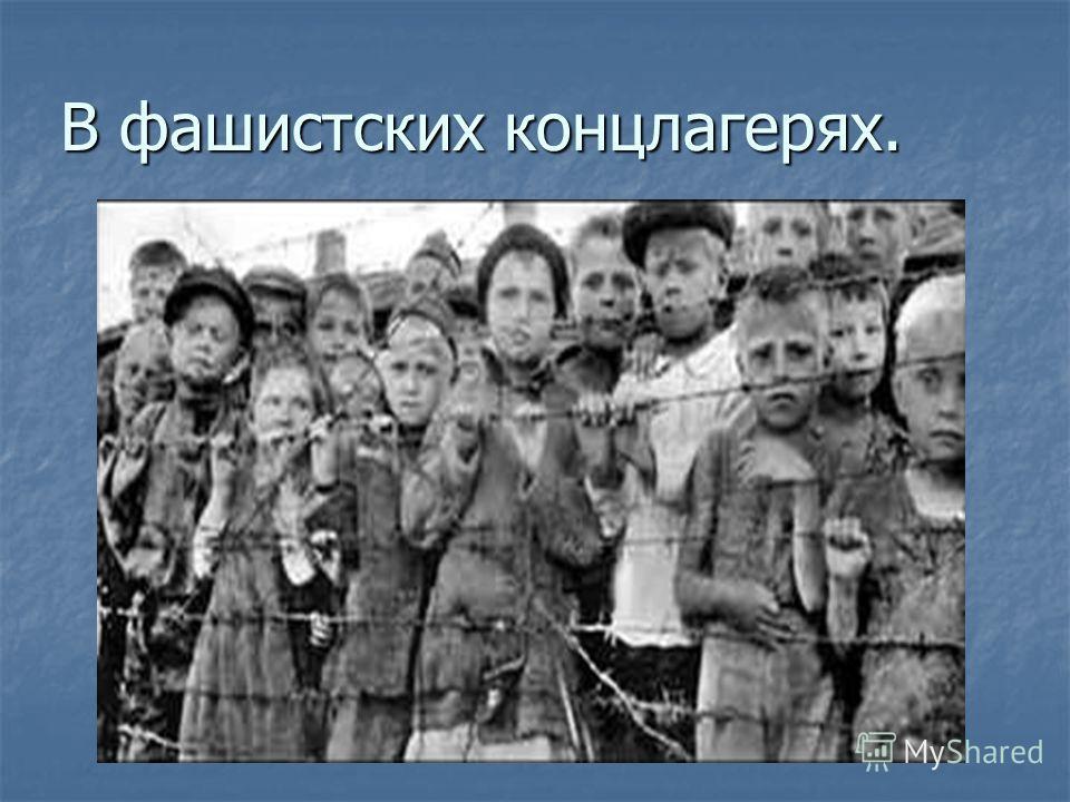 В фашистских концлагерях.