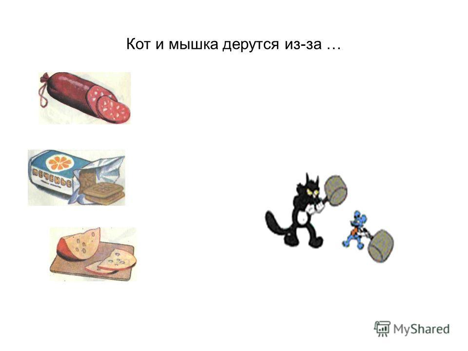 Кот и мышка дерутся из-за …