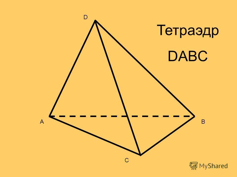 AB C D Тетраэдр DABC