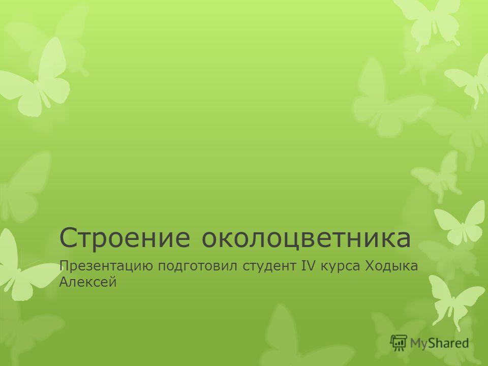Строение околоцветника Презентацию подготовил студент IV курса Ходыка Алексей