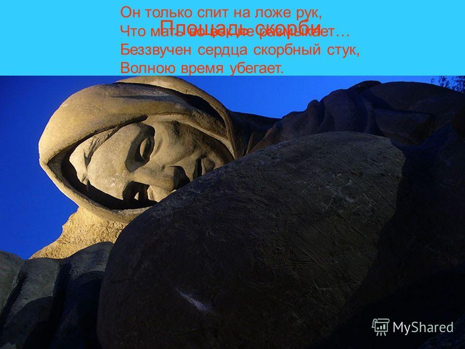Площадь скорби Он только спит на ложе рук, Что мать во век не размыкает… Беззвучен сердца скорбный стук, Волною время убегает.