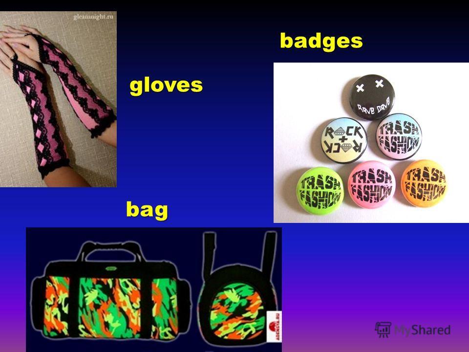 gloves bag badges