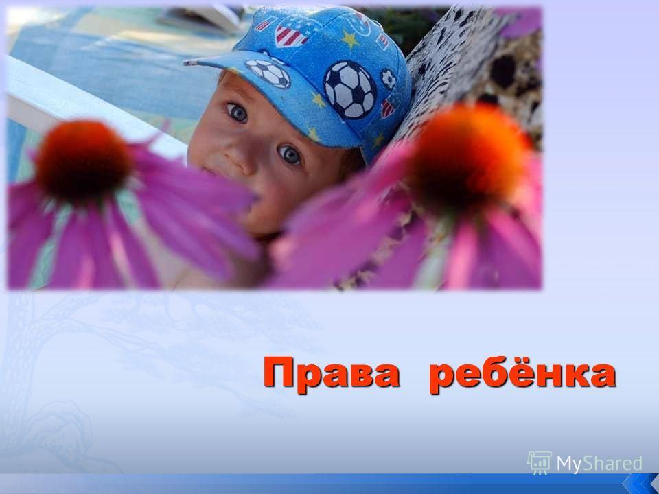 Права ребёнка Права ребёнка
