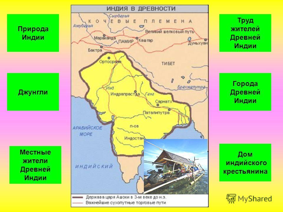 Природа Индии Джунгли Города Древней Индии Труд жителей Древней Индии Местные жители Древней Индии Дом индийского крестьянина
