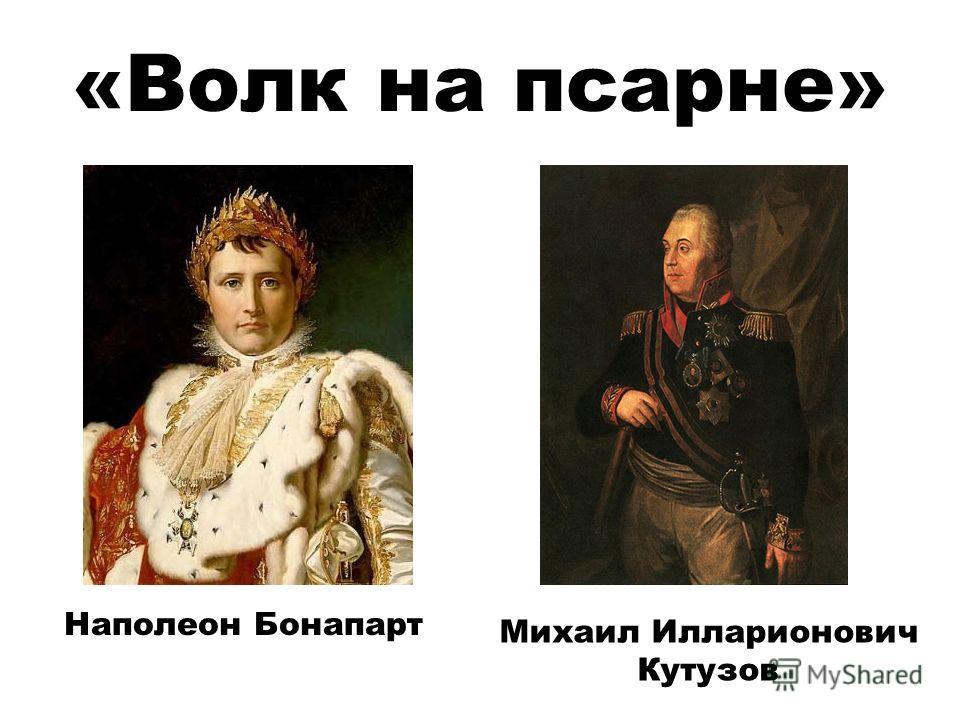 Наполеон Бонапарт Михаил Илларионович Кутузов «Волк на псарне»