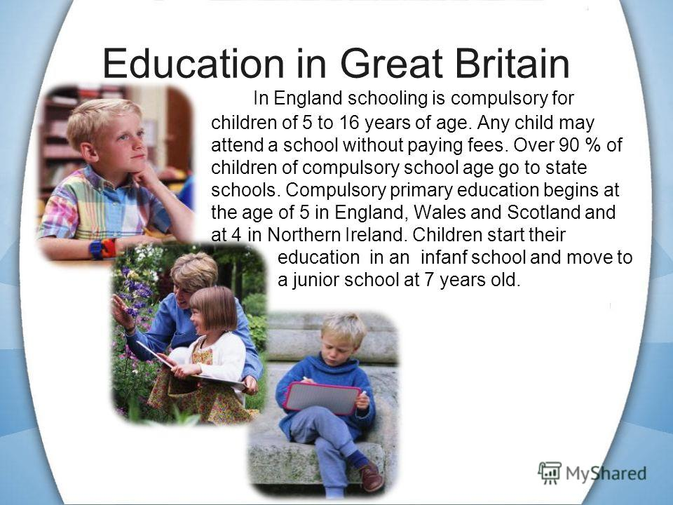 Education in Great Britain - England