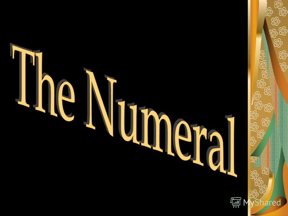 In Linguistics Numerals Number Names Are