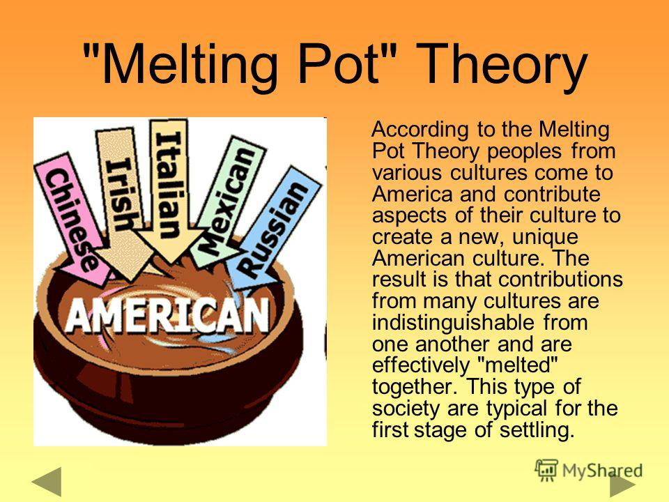 American Culture Melting Pot Презент�...
