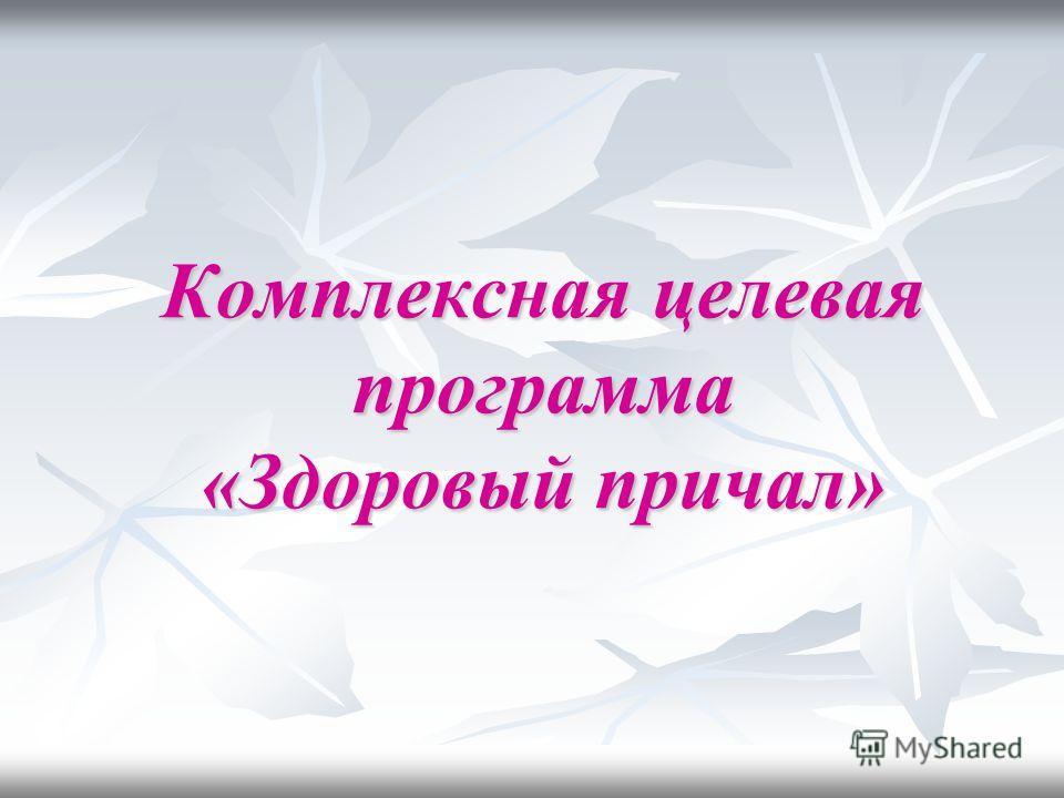 Комплексная целевая программа «Здоровый причал»
