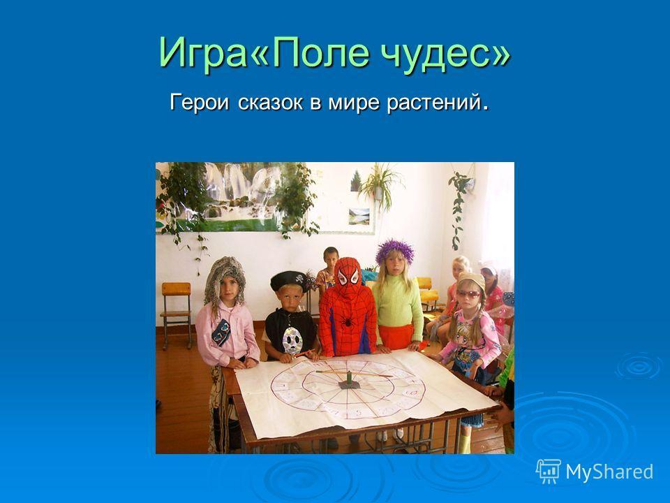 Игра«Поле чудес» Герои сказок в мире растений. Герои сказок в мире растений.