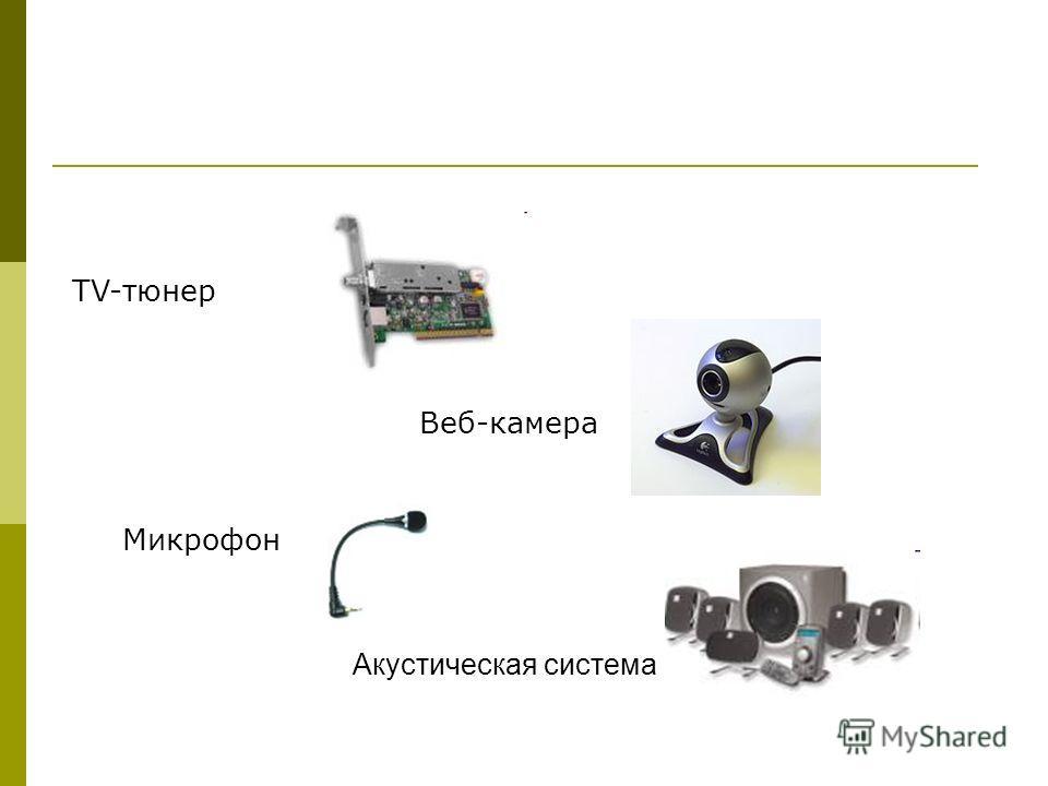 TV-тюнер Веб-камера Микрофон Акустическая система