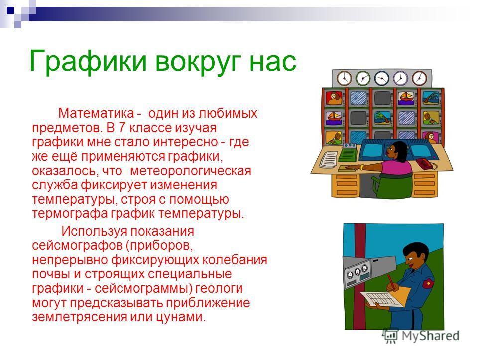 """Презентация на тему: """"«Графики вокруг ...: myshared.ru/slide/359854"""