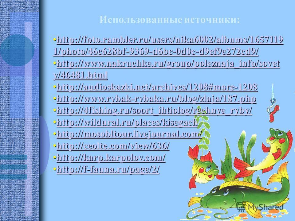 Использованные источники: http://foto.rambler.ru/users/nika6002/albums/1657119 1/photo/46c628bf-9369-d6bc-0d0c-d9ef9e272cd9/http://foto.rambler.ru/users/nika6002/albums/1657119 1/photo/46c628bf-9369-d6bc-0d0c-d9ef9e272cd9/http://foto.rambler.ru/users
