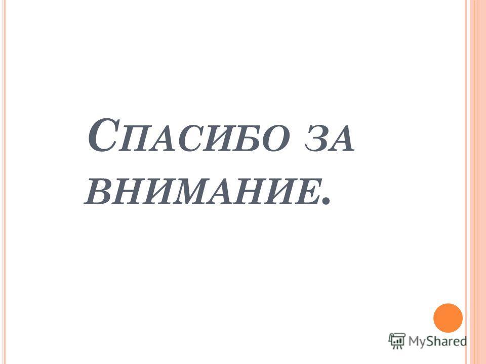 С ПАСИБО ЗА ВНИМАНИЕ.
