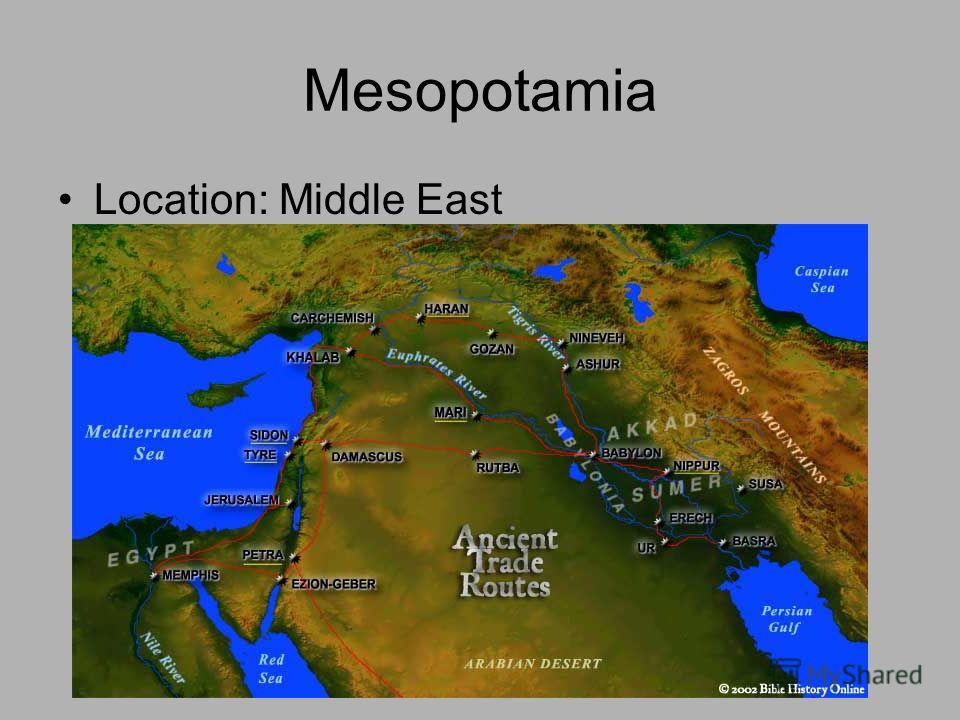 Mesopotamia Location: Middle East