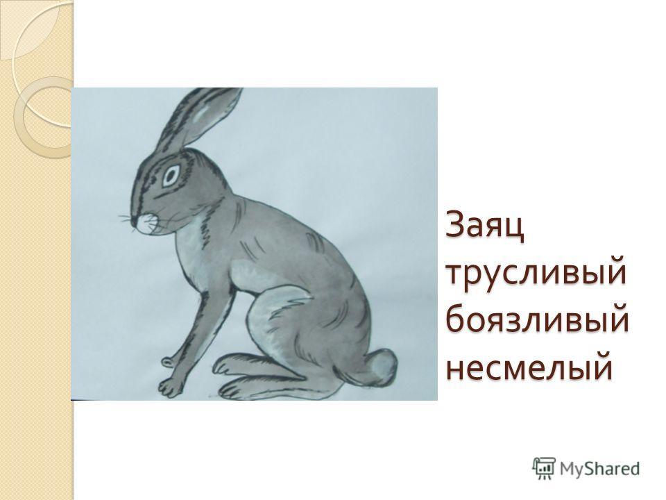 Заяц трусливый боязливый несмелый