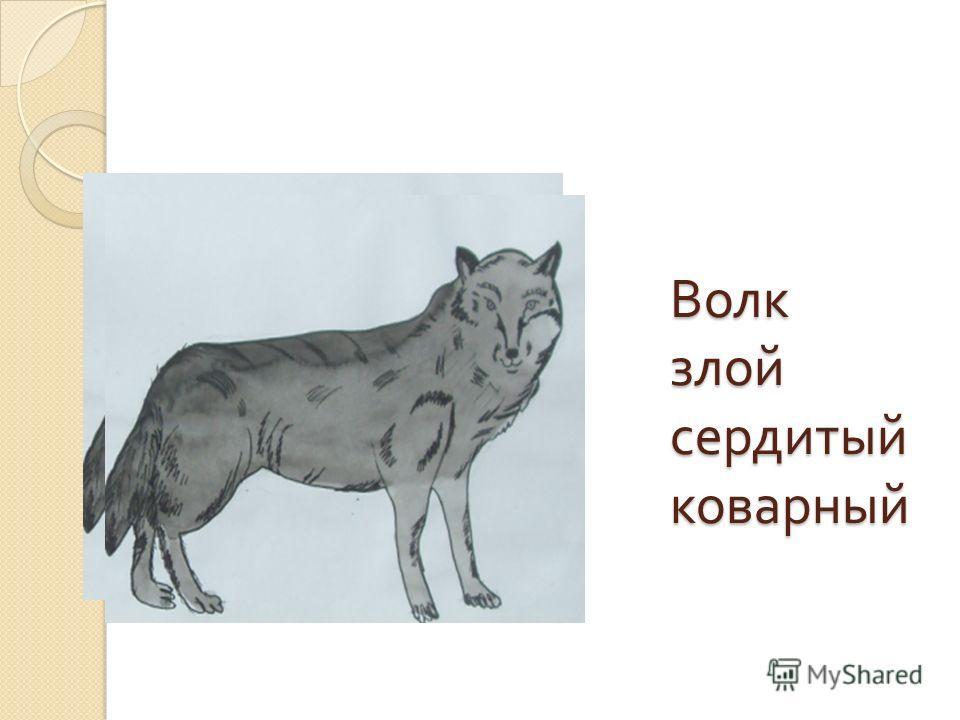 Волк злой сердитый коварный