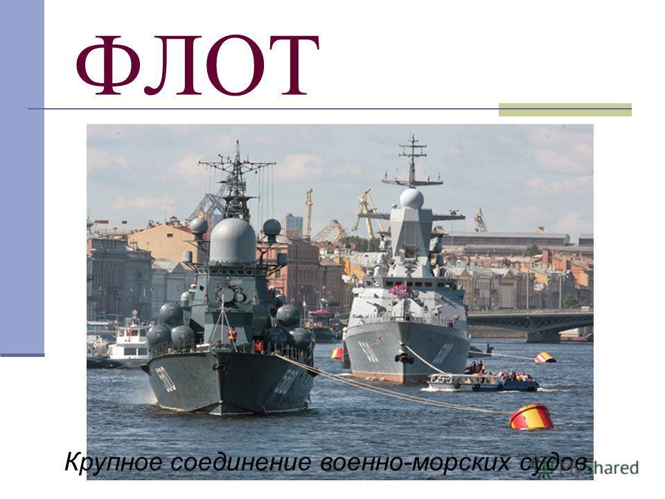 ФЛОТ Крупное соединение военно-морских судов.