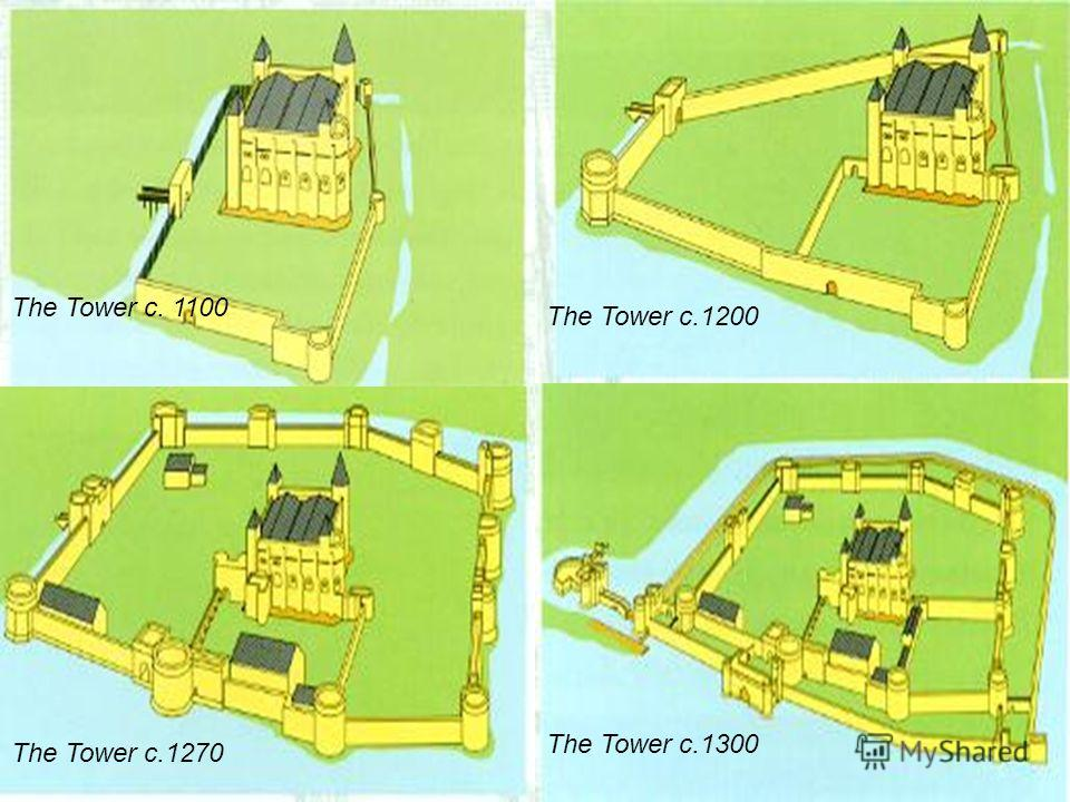The Tower c. 1100 The Tower c. 1200 The Tower c.1300 The Tower c.1270