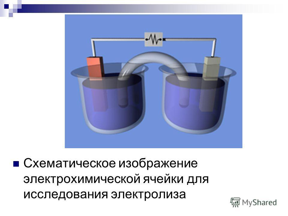 Схематическое изображение электрохимической ячейки для исследования электролиза
